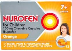 Nurofen 7+ Years Orange 12 Chewable Capsules