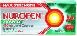 Nurofen Express 400mg 20 Liquid Caps