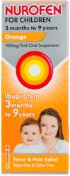 Nurofen for Children 3 Months to 9 Years Orange Flavour 100ml
