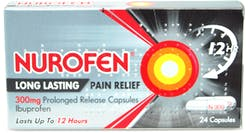 Nurofen Long Lasting Pain Relief 300mg 24 SR Capsules