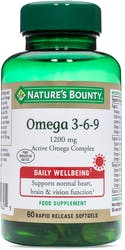 Nature's Bounty Omega 3-6-9 1200mg 60 Softgels