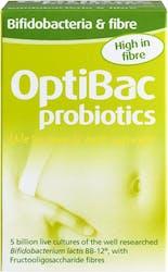 OptiBac Probiotics Bifidobacteria & fibre 30 Sachets