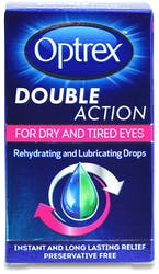 Optrex Double Action Preservative Free Dry & Tired Eye Drops 10ml