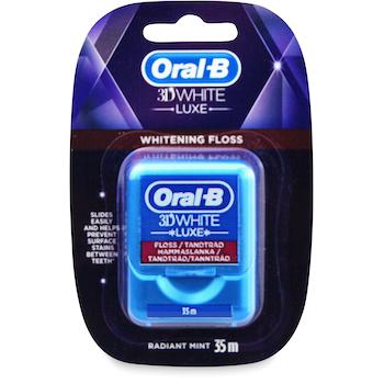 Oral-B 3Dwhite Luxe Whitening Dental Floss 35M