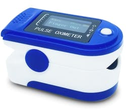 Fingertip Pulse Oximeter Measuring SpO2 and Pulse Rate 1s