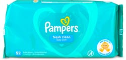 Pampers Fresh Clean Baby 52 Wipes