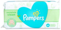 Pampers Natural Clean Wipes 64