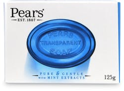 Pears Transparent Soap Bar with Mint Extract 125g