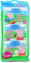 Peppa Pig Hand & Face Wipes 3 x 10 Wipes