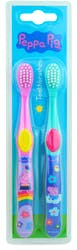 Peppa Pig Toothbrush Twin Pack Blue Pink