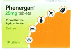 Phenergan 25mg 56 Tablets