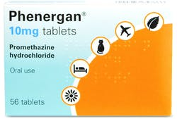Phenergan Tablets 10mg  56 Tablets