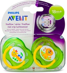 Philips Avent Freeflow Bite Resistant Soothers Unisex 18 Months+ 2 Pack