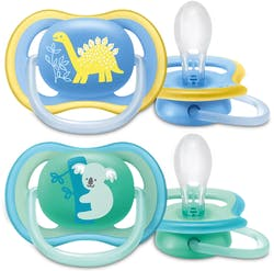 Philips Avent Ultra Air Soother 18 Months+ Boy 2 Pack