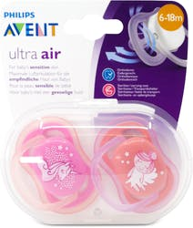Philips Avent Ultra Air Soothers 6-18 Months Angel Unicorn 2 Pack