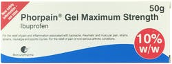 Phorpain Gel Maximum Strength 10% 50g