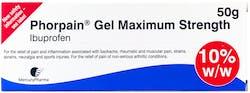 Phorpain Gel Maximum Strength 10% 50g