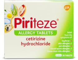 Piriteze Allergy Cetirizine 30 Tablets
