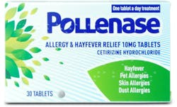 Pollenase Cetirizine 10mg 30 Tablets