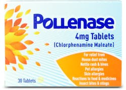 Pollenase Chlorphenamine 4mg 30 Tablets