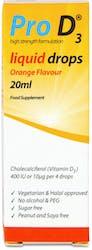 Pro D3 Liquid Drops Orange Flavour 20ml