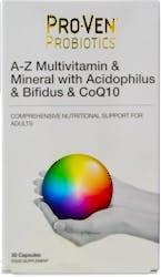 Proven Probiotics-A-Z Multivitamin & Mineral with Acidophilus & Bifidus & Cq10 30 Capsules