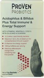 Proven Probiotics Acidophilus & Bifidus Plus Total Immune & Energy 14 Sachets