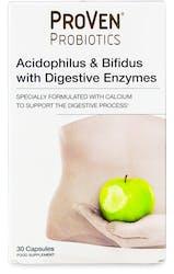 Proven Probiotics Acidophilus & Bifidus With Digestive Enzyme 30 Capsules