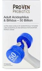 Proven Probiotics Adult Acidophilus & Bifidus 50 Billion 14 Capsules