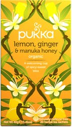 Pukka Lemon, Ginger & Manuka Honey Tea 20 Sachets