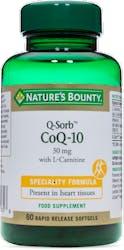 Nature's Bounty Q-Sorb™ CoQ-10 30mg with L-Carnitine 60 Softgels