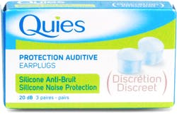 Quies ear plugs silicone noise reduction 3 pairs