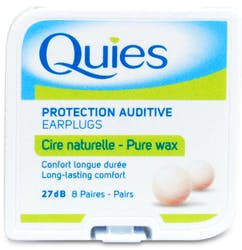 Quies Earplugs Pure Wax 8 Pairs