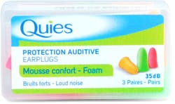 Quies Foam Ear Plugs - 3 Pairs