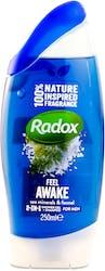 Radox Feel Awake 2-in-1 Shower Gel + Shampoo 250ml