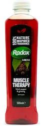 Radox Men Bath Soak Muscle Therapy Black Pepper & Ginseng 500ml