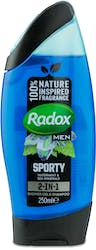 Radox Men Sporty 2-in-1 Shower Gel & Shampoo 250ml