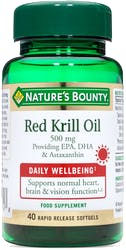 Nature's Bounty Red Krill Oil 500mg 40 Softgels