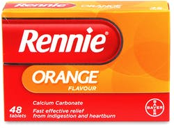 Rennie Orange Flavour 48 Tablets