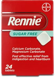 Rennie Sugar Free 24s