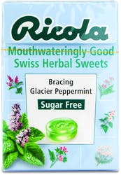Ricola Bracing Glacier Peppermint Lozenges 45g