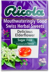 Ricola Delicious Elderflower Sugar free Lozenges 45g