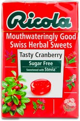 Ricola Tasty Cranberry Sugar Free Lozenges