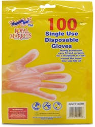 Royal Markets 100 Single Use Disposable Gloves