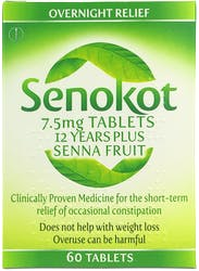 Senokot 7.5mg 12 Years Plus 60 Tablets