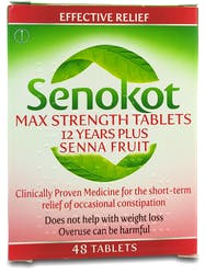 Senokot Max Strength 12 Years Plus Senna Fruit 48 Tablets