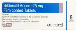 Sildenafil Accord 25mg 8 Tablets