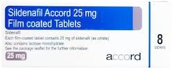 Sildenafil Accord 25mg (PGD) 8 Tablets