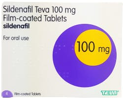Sildenafil Teva 100mg 4 Tablets
