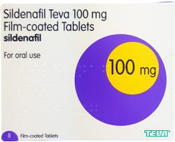 Sildenafil Teva 100mg 8 Tablets